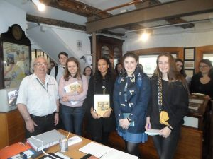 history students visiting penryn museum